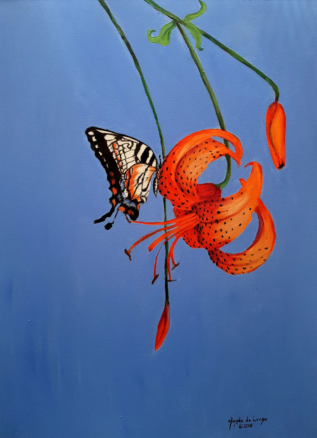 Tiger Lily Oil Painting